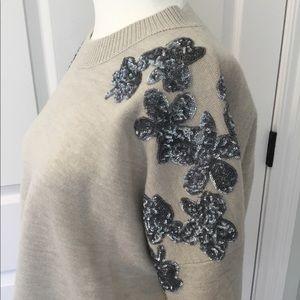 J. Crew Wool Sweater Sequin Design